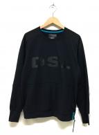 DIESEL(ディーゼル)の古着「カンガルーポケットジャージーカットソー」|ブラック