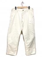 EVISU(エビス)の古着「ホワイトデニムパンツ」|ホワイト