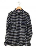 UNION SPECIAL()の古着「チェックシャツ」 ブラウン