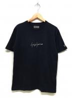 YOHJI YAMAMOTO(ヨウジヤマモト)の古着「ロゴ刺繍Tシャツ」 ブラック