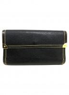 LOUIS VUITTON(ルイ ヴィトン)の古着「長財布」 ブラック