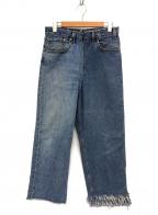 77circa(ナナナナサーカ)の古着「リメイクデニムパンツ」 ブラック