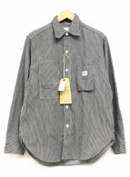 ()の古着「ヒッコリーワークシャツ」|ネイビー