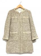 自由区(ジユウク)の古着「ツイードコート」|ベージュ