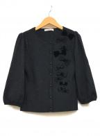 Rene(ルネ)の古着「リボンカーディガン」|ブラック