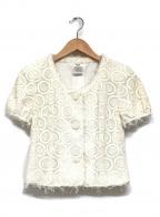 Rene(ルネ)の古着「半袖ジャケット」|ホワイト
