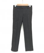 LARDINI(ラルディーニ)の古着「チェック柄ウールスラックス」 ブラック