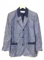 Christian Dior Sports(クリスチャンディオールスポーツ)の古着「リネンテーラードジャケット」|ネイビー