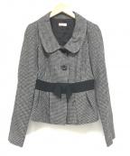 MAX&Co.(マックスアンドコー)の古着「千鳥格子ジャケット」|グレー