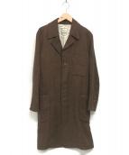 ()の古着「ヘリンボーンチェスターコート」 ブラウン