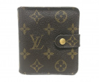 ()の古着「コンパクトジップ/2つ折り財布」 ブラウン