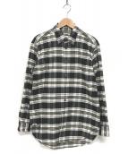 ()の古着「ボタンダウンシャツ」 グレー