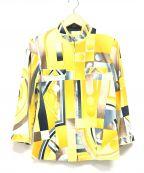 LEONARD(レオナール)の古着「ジップアップジャケット」 イエロー