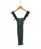 TOGA(トーガ)の古着「デザインリブビスチェ / ニットタンクトップ」|グリーン