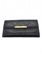 GUCCI(グッチ)の古着「グッチシマ長財布」|ブラック