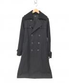 A.P.C.(アーペーセー)の古着「ウール襟付トレンチコート」 ブラック