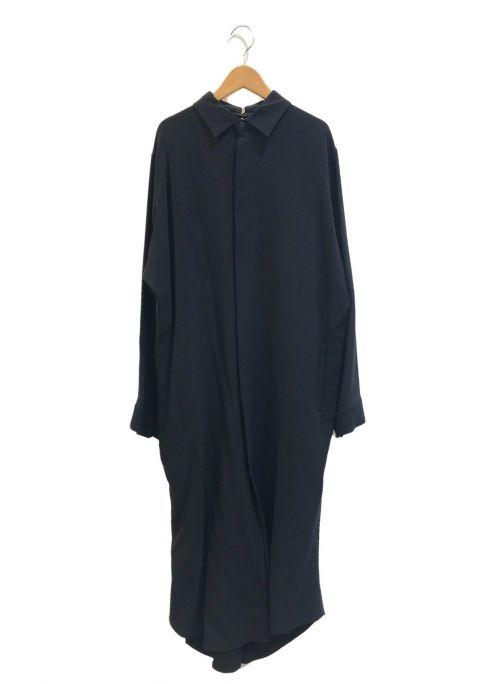 Y's(ワイズ)Y's (ワイズ) [OLD]ギャバウールシャツワンピース ブラック サイズ:表記なしの古着・服飾アイテム
