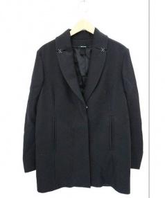 Martin Margiela4(マルタンマルジェラ 4)の古着「チェスター コート」|ブラック