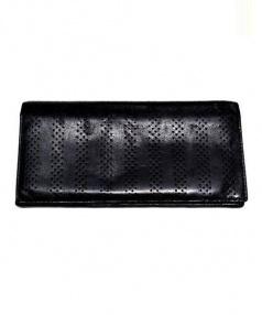 Dior Homme(ディオールオム)の古着「パンチングレザー長財布」|ブラック