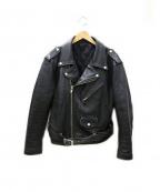 FREEDOM(フリーダム)の古着「ステアハイド レザー ジャケット」|ブラック