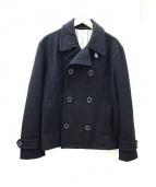 Pherrows(フェローズ)の古着「メルトンPコート」|ブラック