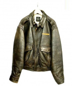 AVIREX(アヴィレックス)の古着「A-2レザー ジャケット」|ブラウン