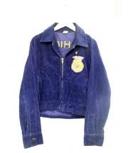 NATIONAL FFA(ナショナルエフエフエー)の古着「ヴィンテージ刺繍コーデュロイファーマーズジャケット」|ネイビー