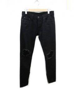mnml(ミニマル)の古着「裾ジップ スリムフィット デニム」 ブラック