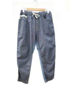 GANRYU(ガンリュー)の古着「転写プリント ウォッシュパンツ」 ブルー