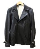 N.HOOLYWOOD(エヌハリウッド)の古着「レザーライダースジャケット」|ブラック