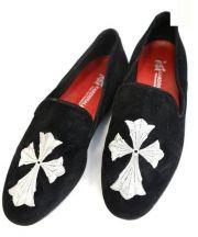 KARDINALE(カルディナーレ)の古着「クロススリッポン」|ブラック
