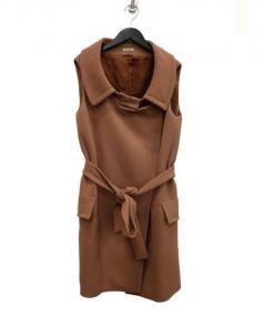 MIU MIU(ミュウミュウ)の古着「ノースリーブコート」|ピンク