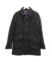 Needles Sportswear(ニードルススポーツウェア)の古着「ミックスウールステンカラーコート」|チャコールグレー
