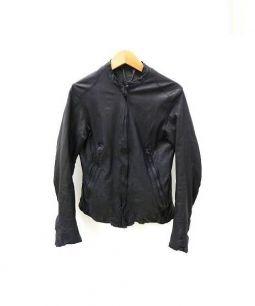 SISII(シシ)の古着「シングルレザーライダースジャケット」 ブラック