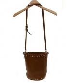 CHRISTIAN VILLA(クリスチャンヴィラ)の古着「バケツフリンジショルダーバッグ」|ブラウン