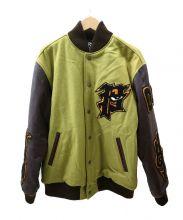 PUNK DRUNKERS(パンクドランカーズ)の古着「中綿スタジャン」|グリーン×ブラウン