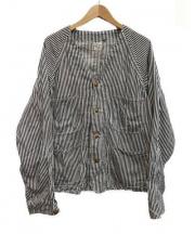 orSlow(オアスロウ)の古着「ノーカラーカバーオール」|ネイビー