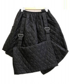 COMME des GARCONS(コムデギャルソン)の古着「キルティングベルトデザインスカート」|ブラック