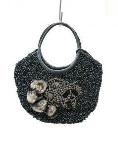 ANTEPRIMA(アンテプリマ)の古着「ストーン装飾ワイヤーハンドバッグ」|ウルフグリーン