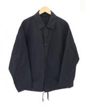 COMOLI(コモリ)の古着「コットンナイロンコーチジャケット」|ブラック