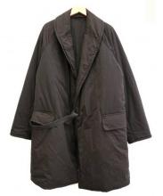 COMOLI(コモリ)の古着「中綿ショールカラーコート」|ネイビー