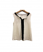 MONCLER(モンクレール)の古着「ノースリーブカットソー」|ホワイト
