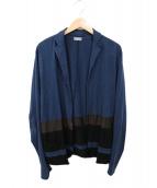 kolor/BEACON(カラービーコン)の古着「コットン天竺カーディガン」|ブルー