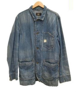 RRL(ダブルアールエル)の古着「デニムカバーオール」 ブルー