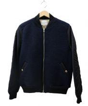 VICTIM(ヴィクティム)の古着「中綿ブルゾン」|ネイビー×ブラック