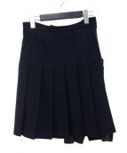 COMME des GARCONS×H&M(コムデギャルソン×エイチアンドエム)の古着「ウールプリーツデザインスカート」|ネイビー
