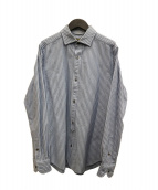 NIGEL CABOURN(ナイジェルケーボン)の古着「ストライプシャツ」 ブルー