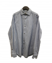 NIGEL CABOURN(ナイジェルケーボン)の古着「ストライプシャツ」|ブルー