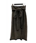 TAN(タン)の古着「ニットラップワンピース」|グレー