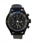 VAGUE WATCH(ヴァーグウォッチ)の古着「クォーツ腕時計 2EYES」|ブラック